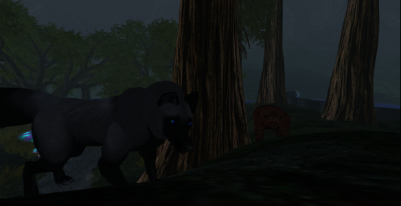 Clan Kitsune Dyret introducing a 'lost cub' of Clan Ursine to the forest of Dokk Refurinn